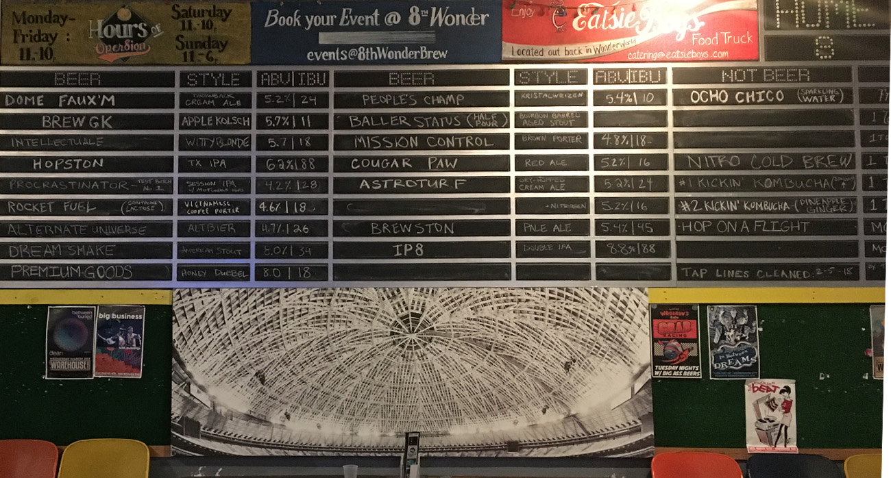 Beer-Chronicle-Houston-8th-wonder-brewery-tap-list