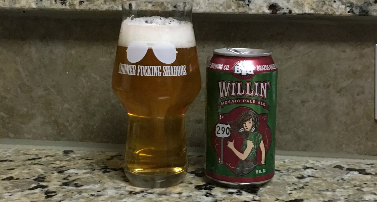 Beer-Chronicle-Houston-Craft-Beer-Review-Brazos-Valley-Willin-Can-Next-To-Glass