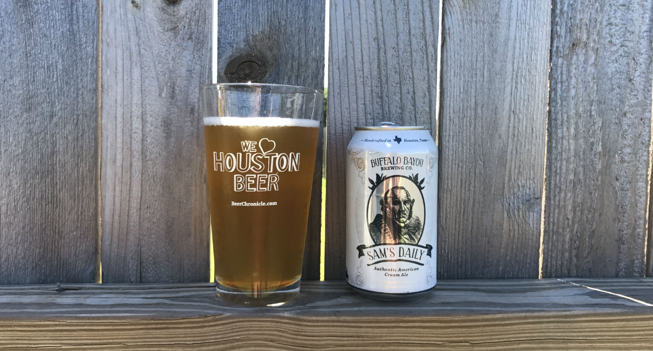 Beer-Chronicle-Houston-Craft-Beer-Review-Sams-Daily-Beer-In-Pint-Glass-Next-To-Can
