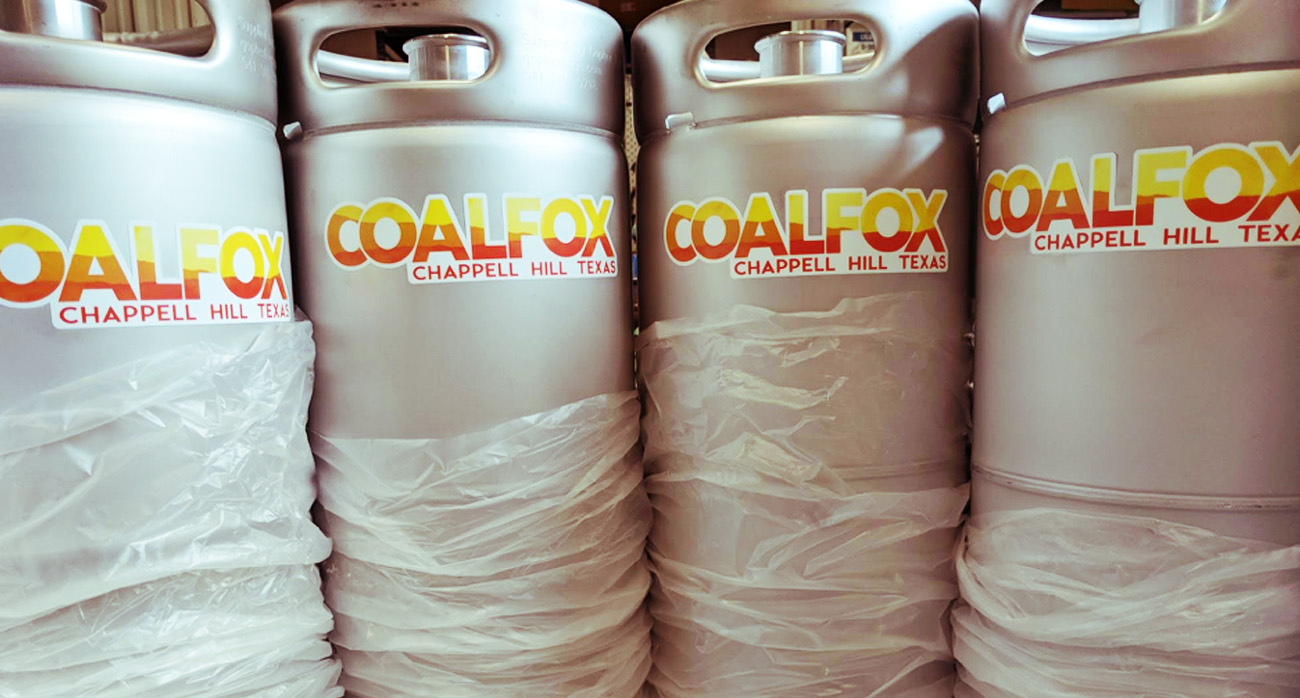 Beer-Chronicle-Houston-coalfox-brewery-in-chappell-hill-kegs