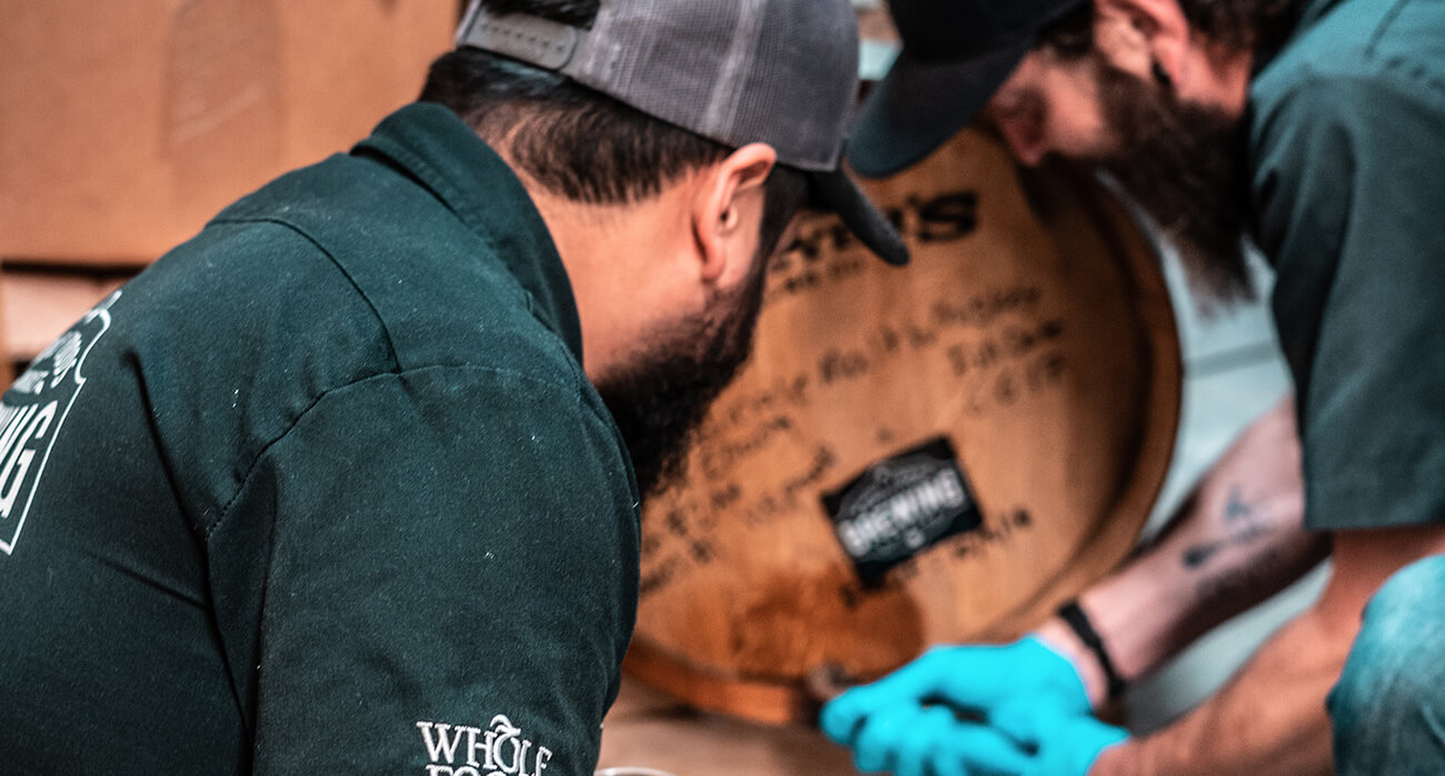 Beer-Chronicle-Houston-whole-foods-brewing-whole-foods-brewing-josh-olalde-barrel