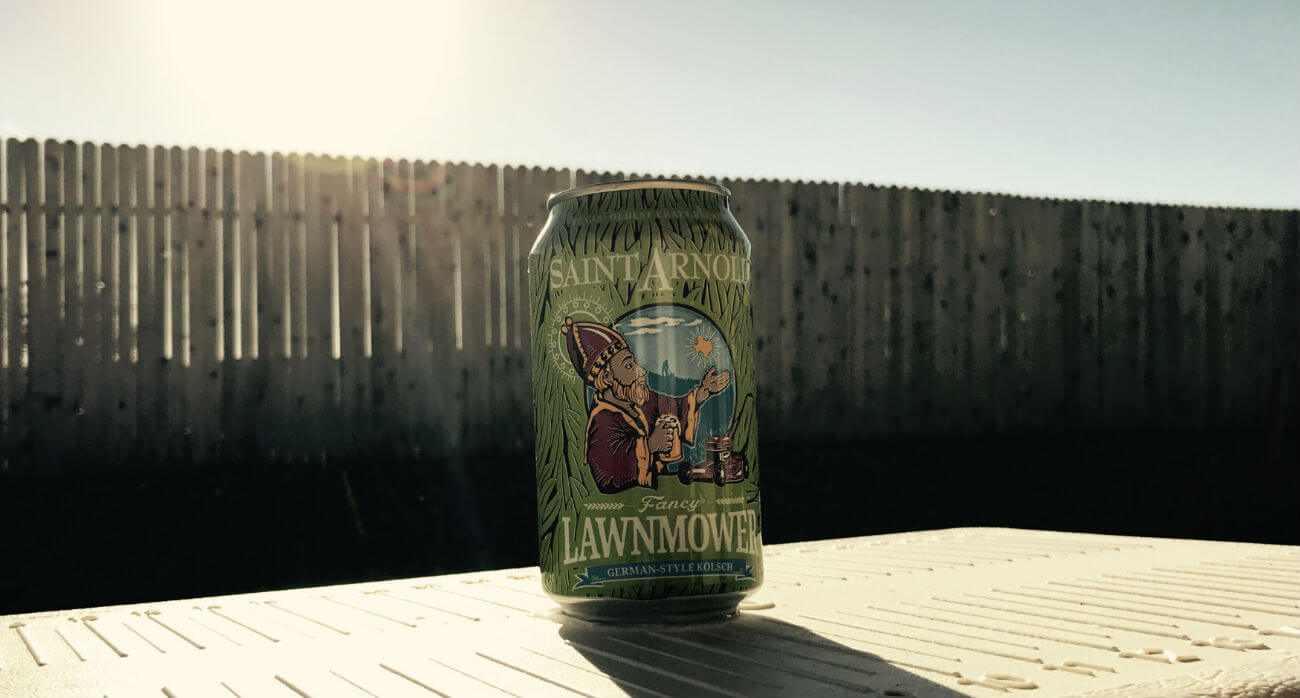 Houston-Beer-Chronicle-Craft-Beer-Review-Fancy-Lawnmower-Can-On-Cooler
